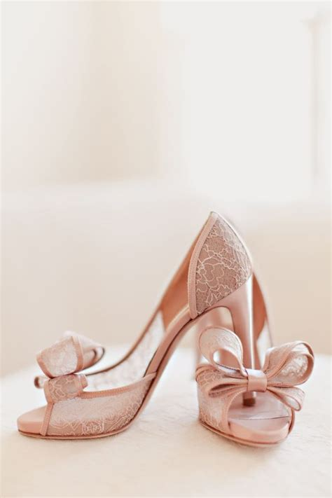 Blush Bridesmaid Shoes by Blush Colored Lace Bridal Shoes