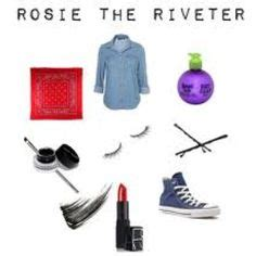 Rosie And Howard And Make Up by Rosie The Riveter The Riveter And Costumes On