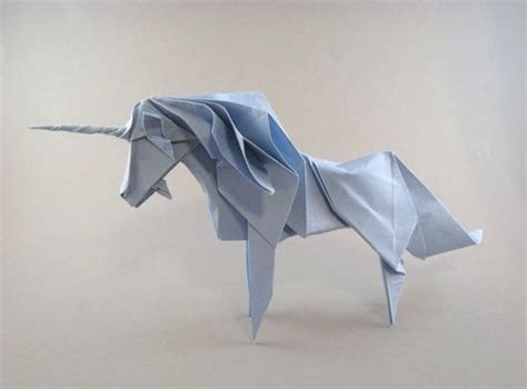 Origami Essence - origami unicorn diagrams can be found in a book called