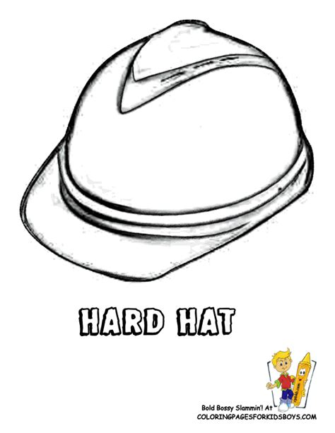 free coloring pages of hard hat