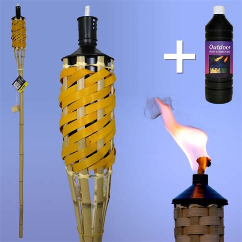 outdoor oil ls lanterns multi pack 5ft bamboo torches garden parties outdoor