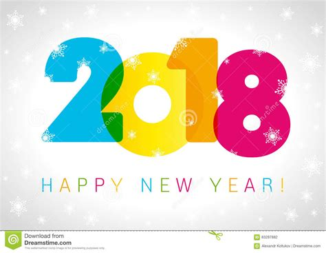 new year design 2018 happy new year 2018 card text design vector illustration