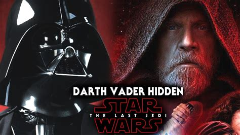 darth vader hidden in star wars the last jedi poster youtube