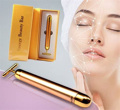 Lift 24k Energy Bar Meniruskan Wajah Facelift 24k 24k gold energy bar skin lifting wrinkle derma roller ebay