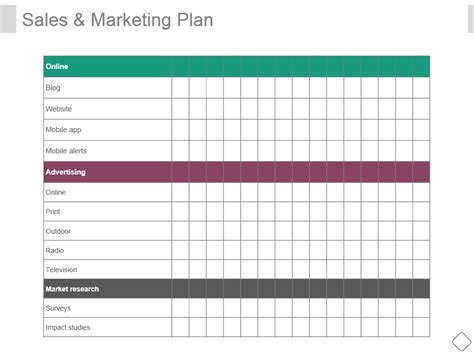 sales marketing plan sle sales action plan template 11