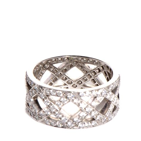 co platinum braided band ring size 6 88359