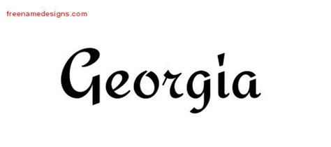 georgia archives free name designs