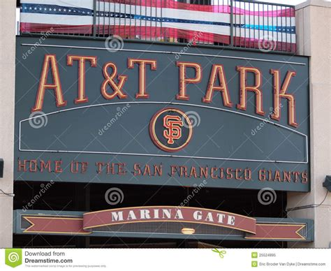 at t park home of the giants sign editorial image