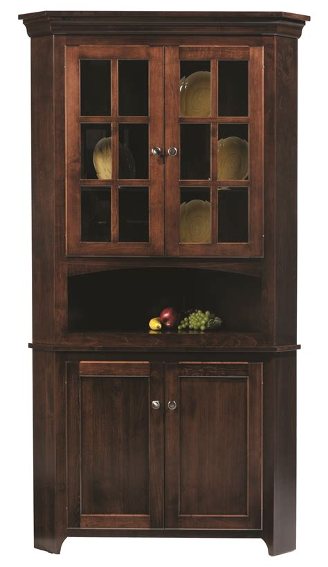 corner kitchen hutch cabinet 30 lexington shaker corner hutch norman s handcrafted
