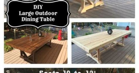 Patio Table Seats 10 Diy Large Outdoor Dining Table Seats 10 12 Hometalk
