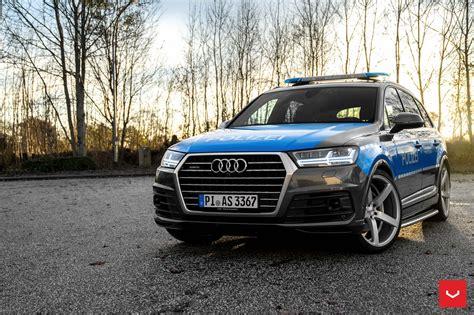 slammed audi slammed audi q7 police car rides on vossen cv3r rims