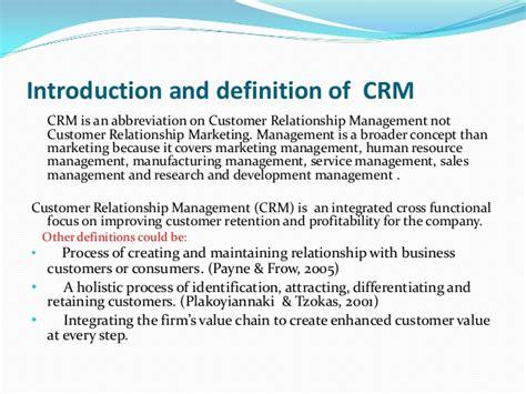 Relationship Definition Customer Relationship Management