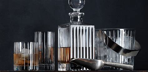 bar ware boulevard cut crystal barware restoration hardware