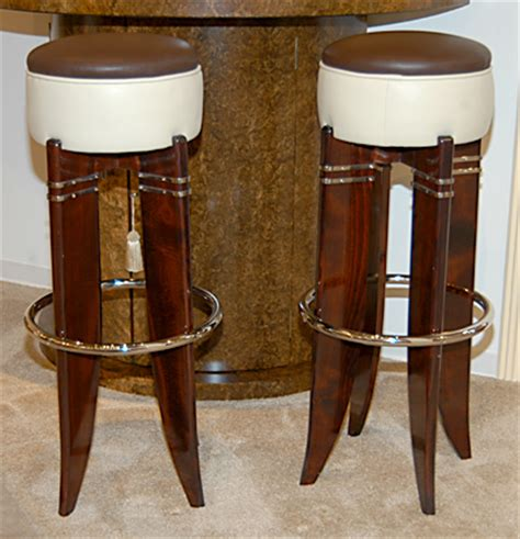 Deco Style Bar Stools by 1930s Deco Style Bar Stools Sold Items Seating Items