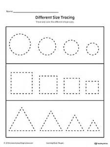 shape tracing templates learning basic shapes color trace and connect