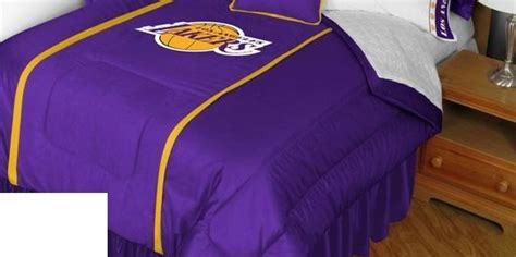 lakers comforter set twin sports coverage nba los angeles lakers sideline bedding