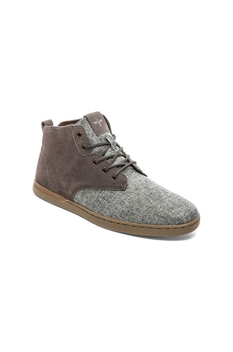 creative recreation boots creative recreation vito boots in gray for