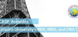 Acbsp Accredited Mba Programs by Articles Horizons