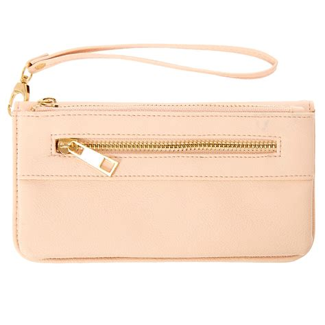 Faux Leather Wristlet Pink Intl blush pink faux leather wristlet icing us