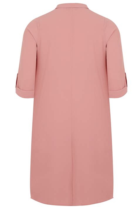 Does A Temporary Restraining Order Show Up On A Background Check Dusky Pink Lightweight Duster Jacket With Waterfall Front Roll Up Sleeves Plus Size