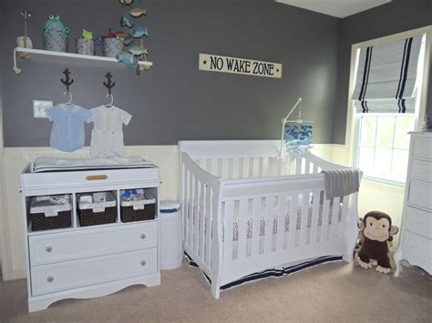 Gray Navy Nautical Nursery Project Nursery Gray Nursery Decor