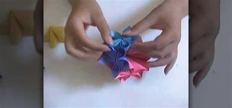 How To Make Flower Paper Balls - how to make a paper flower with origami 171 papercraft