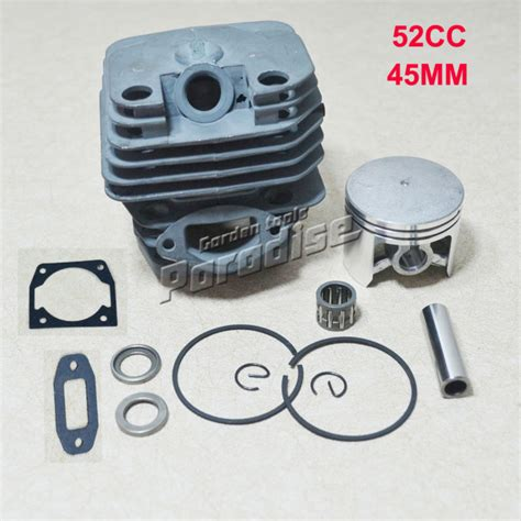Piston Senso Kecil Chainsaw 5200 cylider bore 45mm 52cc 5200 gasoline chainsaw cylinder piston kit with muffler