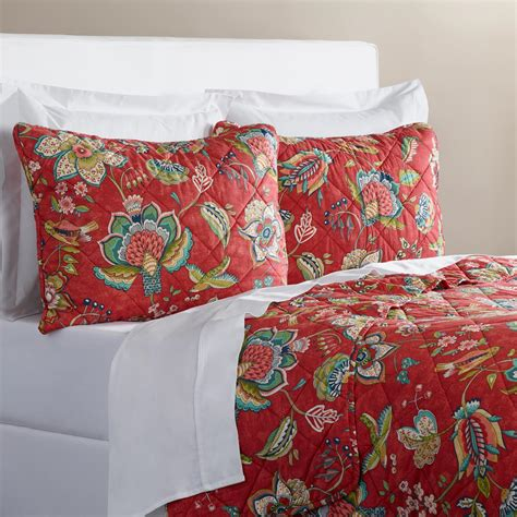 Coral Quilt by Coral Floral Quilt World Market