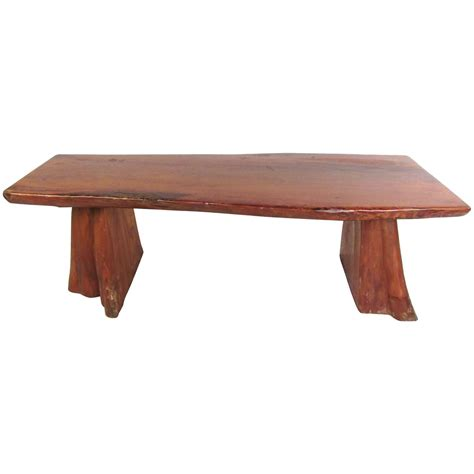 live edge wood bench vintage rustic wooden bench sculpted live edge treetrunk for sale at 1stdibs