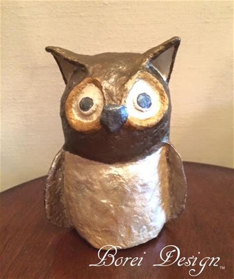 How To Make A Paper Mache Owl - papier mache owl favecrafts