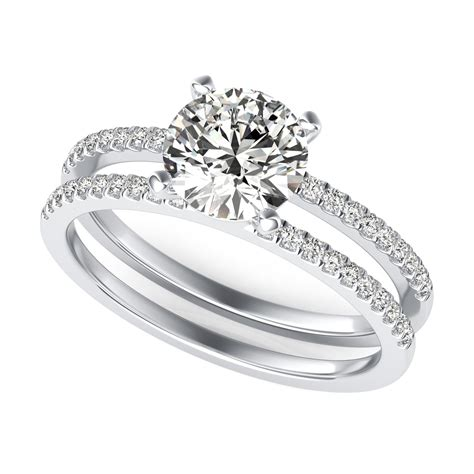 Band Engagement Ring by Split Band Engagement Ring Sku Rd0059