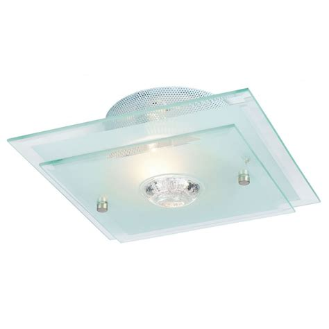 Flush Glass Ceiling Light Endon Lighting 065 27 Glass Semi Flush Ceiling Light