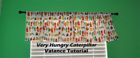 eric carle curtains very hungry caterpillar valance tutorial eric carle