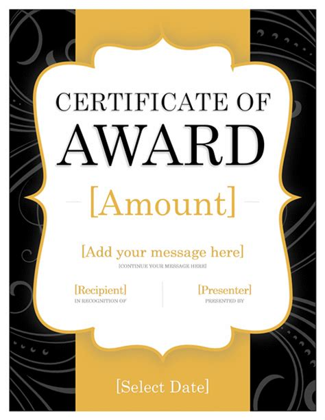 award certificate templates word 2007 free gift certificate template for microsoft