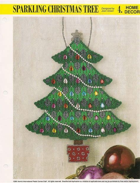 weihnachtsbaum plastik sparkling tree plastic canvas pattern