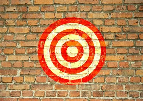 Target Wall L by Target Painted On The Wall Stock Photo 169 Kasza 21087243