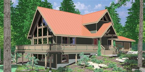 a frame house plans with steep rooflines