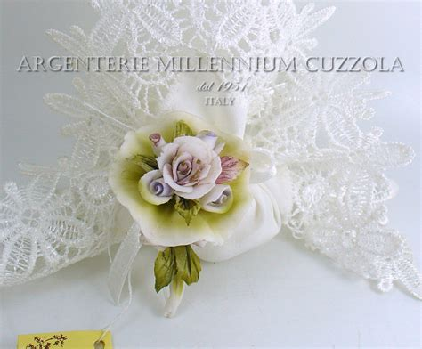 fiori capodimonte bomboniere fiori matrimonio ceramica mazzolino