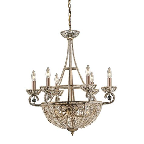 Ceiling Fans With Chandelier Light Titan Lighting Elizabethan 10 Light Bronze Ceiling Mount Chandelier Tn 5804 The Home Depot