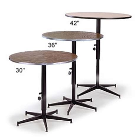 banquet tables 36 quot adjustable height cocktail table