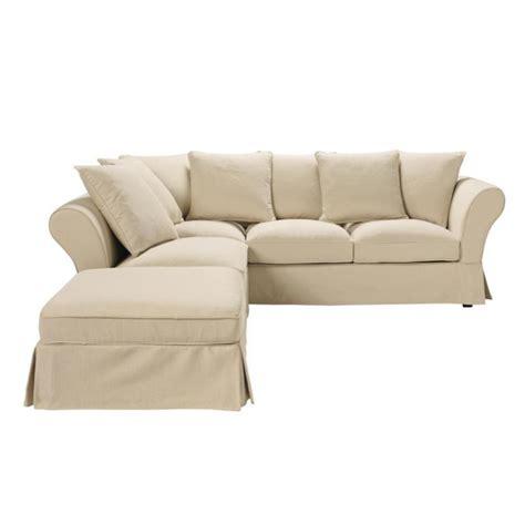 six seater corner sofa 6 seat corner sofa in beige roma roma maisons du monde