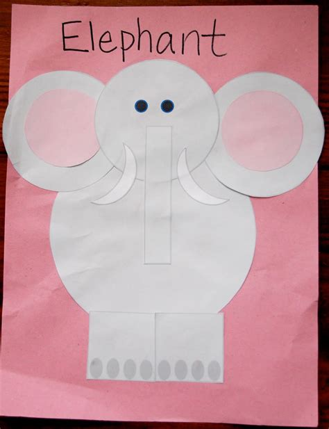 best photos of preschool elephant pattern letter e