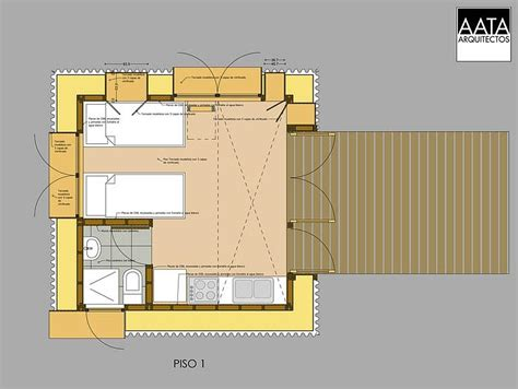 Straw Bale House Floor Plans Gallery A Straw Bale Cabin Aata Arquitectos Small House Bliss