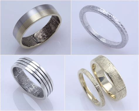 Fingerprint Wedding Rings   Cloud 9