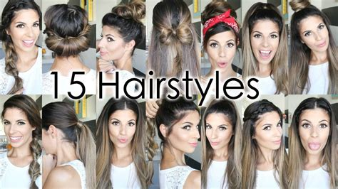 easy hairstyles for short hair for school youtube 15 back to school heatless hairstyles youtube