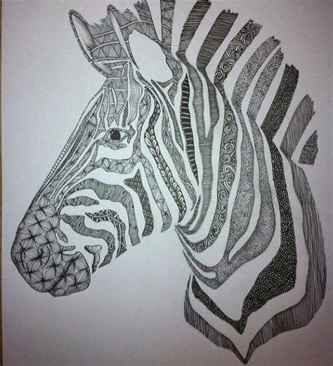 Zebra Tattoo Pen | 1581 best zentangle 174 animals of all sorts images on