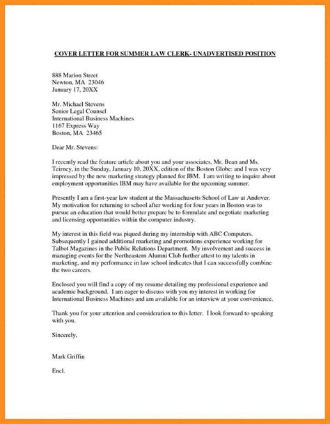 Cover Letter Sle Contract Work 5 Cover Letter Without Specific Position Mystock Clerk