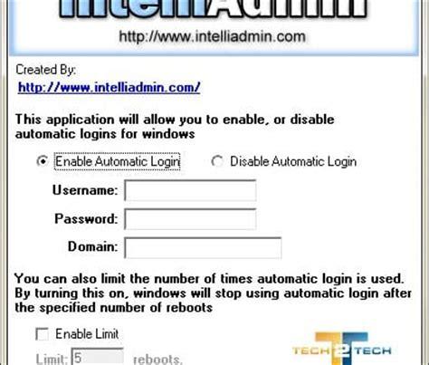 Os X Auto Logon by Autologon Connexion Automatique Sur Windows Xp Vista Et