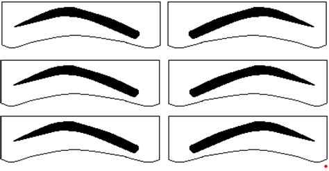 eyebrow shape template free eyebrow stencils ytf cosmetic plastic surgery