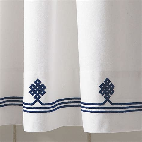 white and navy shower curtain navy gobi shower curtain
